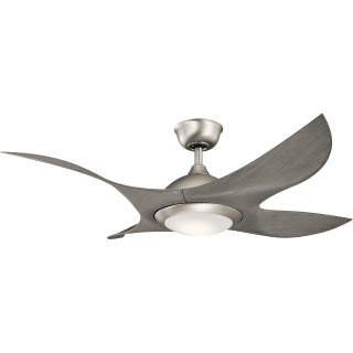 "kichler 300209ni brushed nickel shuriken 52"" ceiling fan with"