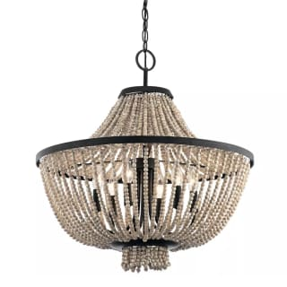 Kichler 43891dbk Distressed Black Brisbane 6 Light 24