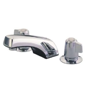Kingston Brass Kb920 Polished Chrome Americana Widespread Bathroom Faucet With Pop Up Drain Assembly And Metal Lever Handles Faucet Com