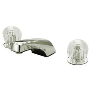 Kingston Brass Kb921lp Polished Chrome Americana Widespread Bathroom Faucet With Porcelain Knob Handles Faucet Com