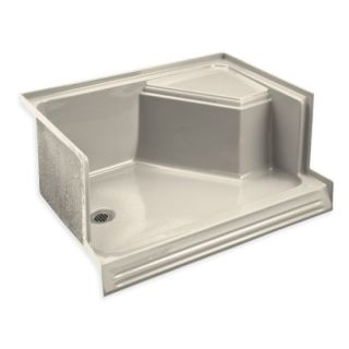 almond kitchen sink kohler k 9486 47 almond memoirs 48 quot shower receptor with 1201