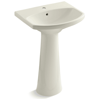 Kohler K 2362 1 0 White Cimarron 22 3 4 Pedestal Lavatory Sink With One Hole Drilled And Overflow Faucetdirect Com