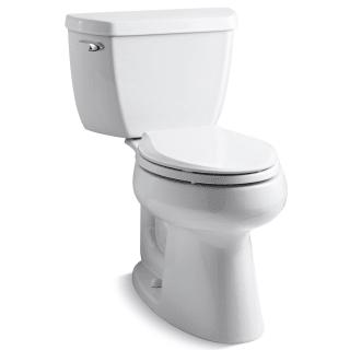 Wondrous Kohler K 3658 0 White Elongated Comfort Height Two Piece Theyellowbook Wood Chair Design Ideas Theyellowbookinfo