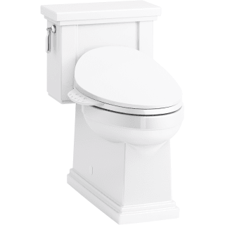 Kohler K 3981 4108 0 White Tresham 1 Piece 1 28 Gpf Elongated Toilet With C3 230 Electric Bidet Toilet Seat Faucetdirect Com