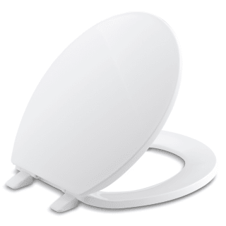Kohler K 4775 0 White Brevia Q2 Round Closed Front Toilet Seat With Quick Release And