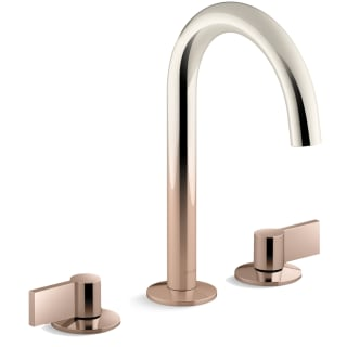 Kohler K 77967 4 3rs Vibrant Ombre Rose Gold Polished Nickel Components 1 2 Gpm Widespread Tube Spout Bathroom Faucet With Lever Handles Ultraglide Technology And Pop Up Drain Assembly Faucet Com