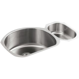 "Kohler Stainless Steel Kitchen Sinks kohler k-3099-na stainless steel undertone 35"" double basin under"