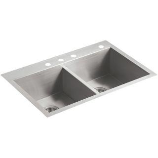Kohler Stainless Steel Kitchen Sinks kohler k-3820-4 kitchen sink - build