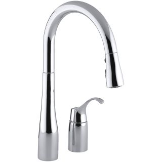 Kohler Kitchen Faucets Simplice kohler k-647-cp polished chrome simplice two-hole kitchen sink