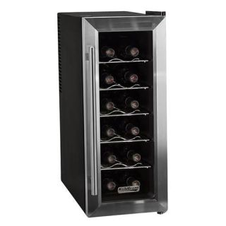koldfront 12 bottle stainless steel slimfit wine cooler twr121ss
