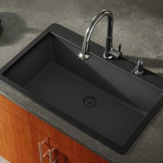 Miseno Mg3321t Bl Black Carolina 33 Single Basin Drop In