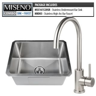 Miseno Mss161520sr Mk003 B 16 Gauge Stainless Steel Brushed