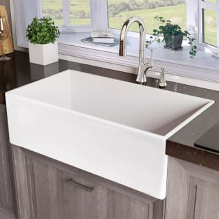 White Single Bowl Kitchen Sink.Miseno Mno33201fc
