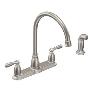 Moen Ca87000 Chrome High Arc Kitchen Faucet With Side