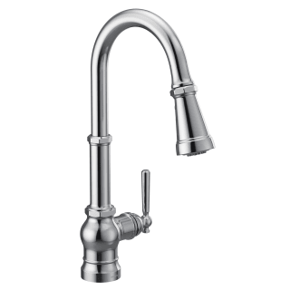 Moen S72003bl Matte Black Paterson 1 5 Gpm Single Hole Pull Down Kitchen Faucet With Duralast Cartridge And Reflex Powerboost And Duralock Technologies Faucetdirect Com