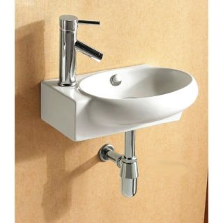 Nameeks Caracalla Ca4522 One Hole White Caracalla 17 1 2 Ceramic Wall Mounted Bathroom Sink With 1 Faucet Hole And Overflow Faucet Com