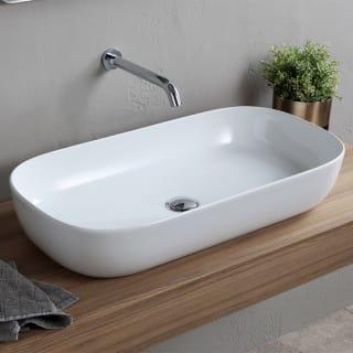 Nameeks Scarabeo 1803 No Hole White Glam 30 Rectangular Ceramic Vessel Bathroom Sink Faucet Com
