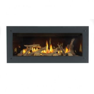 Napoleon lds45ksb glossy black deluxe four sided surround for Four sided fireplace