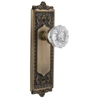 Nostalgic Warehouse 714972 Satin Nickel Victorian Crystal Privacy Door Knob Set With Solid Brass Egg And Dart Plate And 2 3 4 Backset Faucetdirect Com