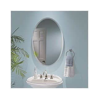 Nutone S368244ovwh White Oval Medicine Cabinet With 1