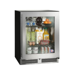 perlick ha24rb 3 3r 24 ada compliant built in refrigerator w glass door right hinge - Refridgerator Glass Door