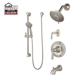 Pfister T89 8try Tuscan Bronze Iyla Shower System With Valve Trim Shower Head Hand Shower Slide Bar Tub Spout And Diverter Valve Faucet Com