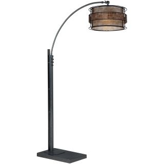 Quoizel q4574a renaissance copper laguna 1 light 76quot tall for Arc floor lamp with copper shade