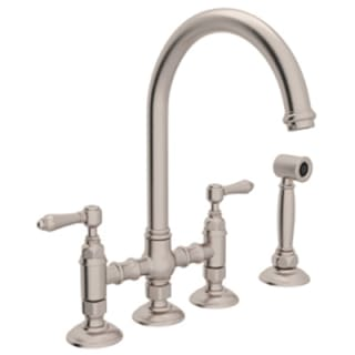rohl country kitchen bridge faucet rohl a1461lmwsstn 2 satin nickel country kitchen bridge 25593