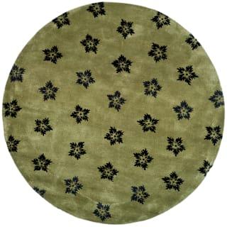 Safavieh Soh720a 6r Sage Black Soho 6 Round Wool Hand Tufted