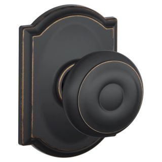 Schlage F10geo716cam Aged Bronze Passage Georgian Door