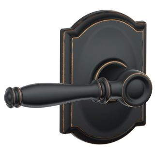 Schlage F10-ACC-BRK  Accent Passage Door Lever Set with the Decorative
