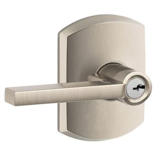 Schlage F51alat619grw Satin Nickel Latitude Single