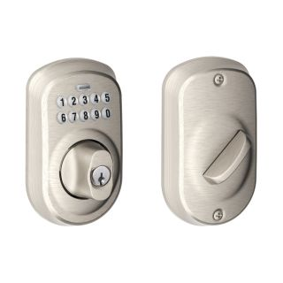 Schlage Be365ply619 Satin Nickel Plymouth Electronic