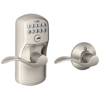 Schlage Fe575ply619acc Satin Nickel Plymouth Keypad Entry