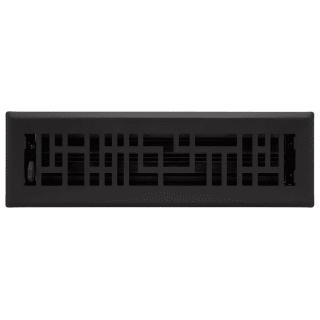Signature Hardware 435411 Black Baer Steel Floor Register 2 X 14 Faucetdirect Com