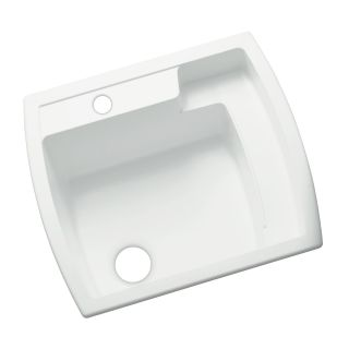Sterling 995 0 White Latitude 25 Quot Single Basin Drop In Or