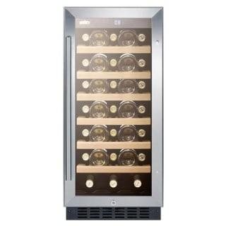 Summit Built In 15 Inch Glass Door Wine Cellar Swc1535b