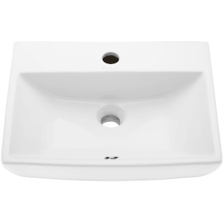Swiss Madison Sm Ws317 White Sublime 17 3 4 Rectangular Ceramic Wall Mounted Bathroom Sink With Overflow And Single Faucet Hole Faucet Com