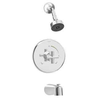 Symmons 3532 B Sh3 1 5 Trm Chrome Dia Tub And Shower Trim Package With 1 5 Gpm Single Function Shower Head Faucet Com