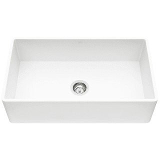 Vigo Vgra3318fl Matte White Matte Stone 33 Farmhouse Single Basin Kitchen Sink With Basket Strainer And Cutting Board Faucet Com