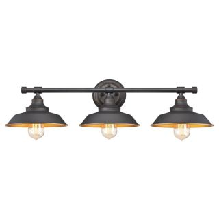 "Bathroom Light Fixtures Oil Rubbed Bronze westinghouse 6344900 oil rubbed bronze iron hill 30"" wide 3 light"