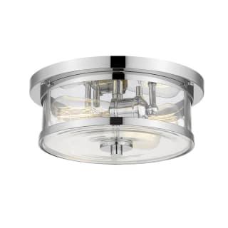 Z Lite 462f11 Ch Chrome Savannah 2 Light 11 Wide Flush Mount Drum Ceiling Fixture With A Clear Glass Shade Lightingdirect Com