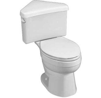 Round Front Two Piece Corner Toilet