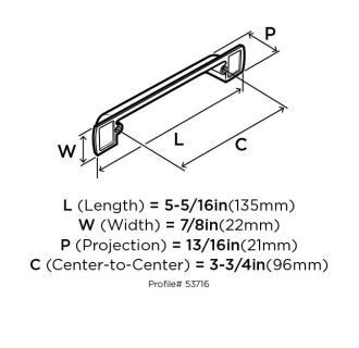 Amerock Bp53716 Cabinet Pull Build Com