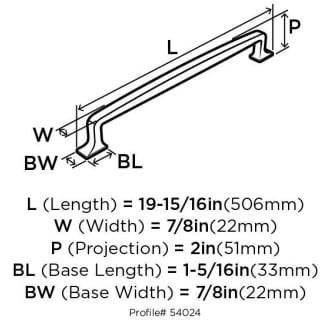 A thumbnail of the Amerock BP54024 Amerock-BP54024-Dimensions