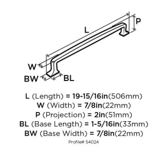 A thumbnail of the Amerock BP54024 Amerock-BP54024-Dimensions of Angle View