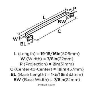 A thumbnail of the Amerock BP54024 Amerock-BP54024-Dimensions of Back View