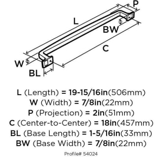 A thumbnail of the Amerock BP54024 Amerock-BP54024-Dimensions Rear View
