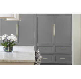 A thumbnail of the Amerock BP54024 Amerock-BP54024-Golden Champagne on Gray Cabinets