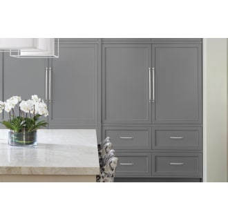 A thumbnail of the Amerock BP54024 Amerock-BP54024-Polished Nickel on Gray Cabinets